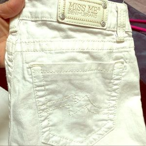 Miss Me white skinny jeans